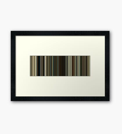 Moviebarcode: No Country for Old Men (2007) [Simplified Colors] Framed Print