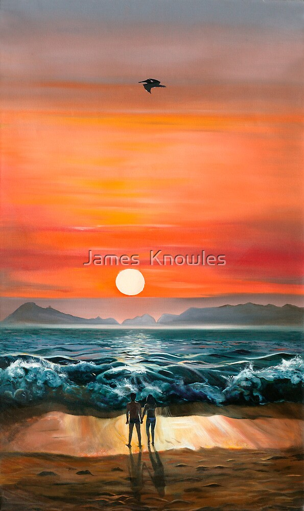 Quot Sunset In Barra Oil Painting Of A Romantic Couple On The