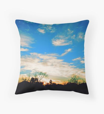 Suburban Sunset Throw Pillow
