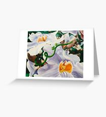 Sensualaticia - oil painting of a Mexican climbing vine Greeting Card