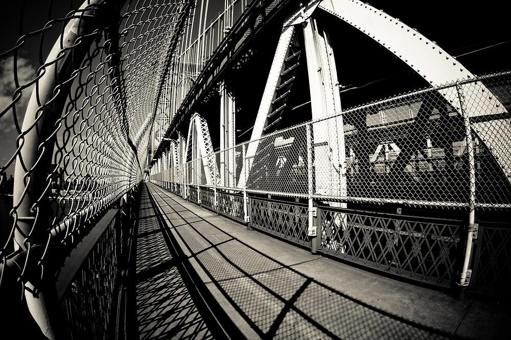 walk over Manhattan Bridge by Marzena Grabczynska Lorenc