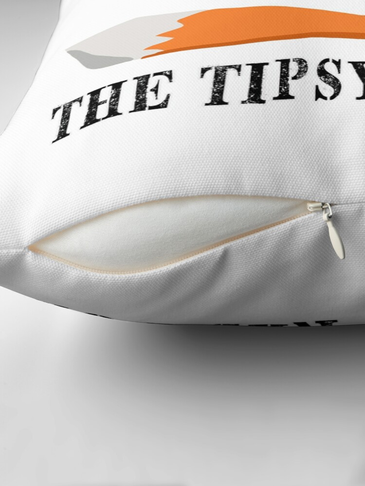 Alternate view of The Tipsy Red Fox T-Shirts - Clothes and Home decor Throw Pillow