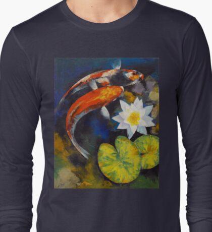 Koi Fish and Water Lily T-Shirt