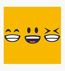 Emoji: Grinning faces Photographic Print