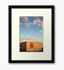 24 Hour Shopping Framed Print