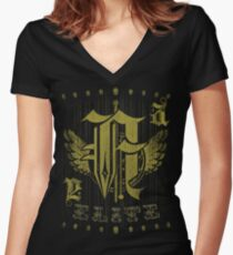 "Elite Fashion ""A"" Women's Fitted V-Neck T-Shirt"