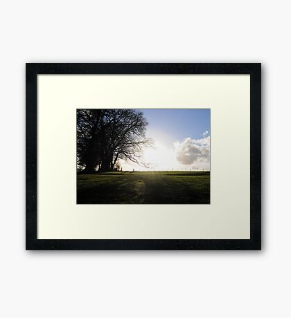 And the sun broke through... Framed Print