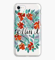 Killin' It – Tropical Red & Green iPhone Case/Skin
