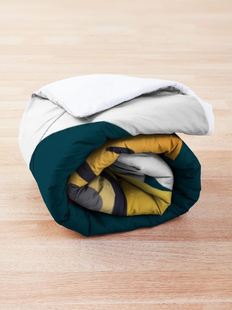 Alternate view of Nerdy X-mas Emoji Comforter