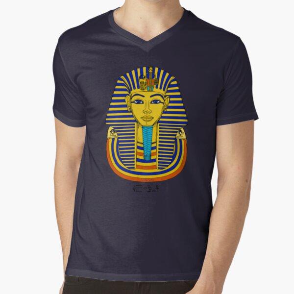 TUTANCHAMUN I Pharao Totenmaske T-Shirt mit V-Ausschnitt