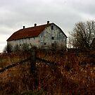 A old Fenced in Barn............. by Larry Llewellyn