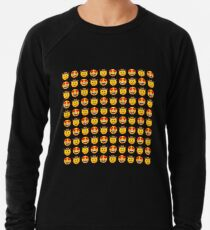 I Love Cowboy Emoji JoyPixels Lovely Texas Boy with Heart Eyes Lightweight Sweatshirt