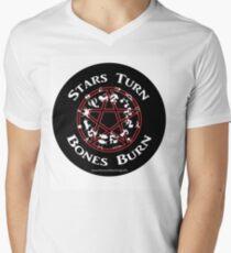 Mike D.'s Stars Turn Bones Burn Men's V-Neck T-Shirt