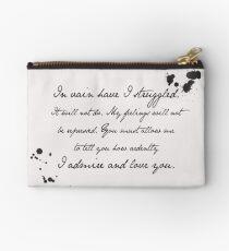 Mr Darcy Proposal Quote - Pride and Prejudice by Jane Austen Studio Pouch