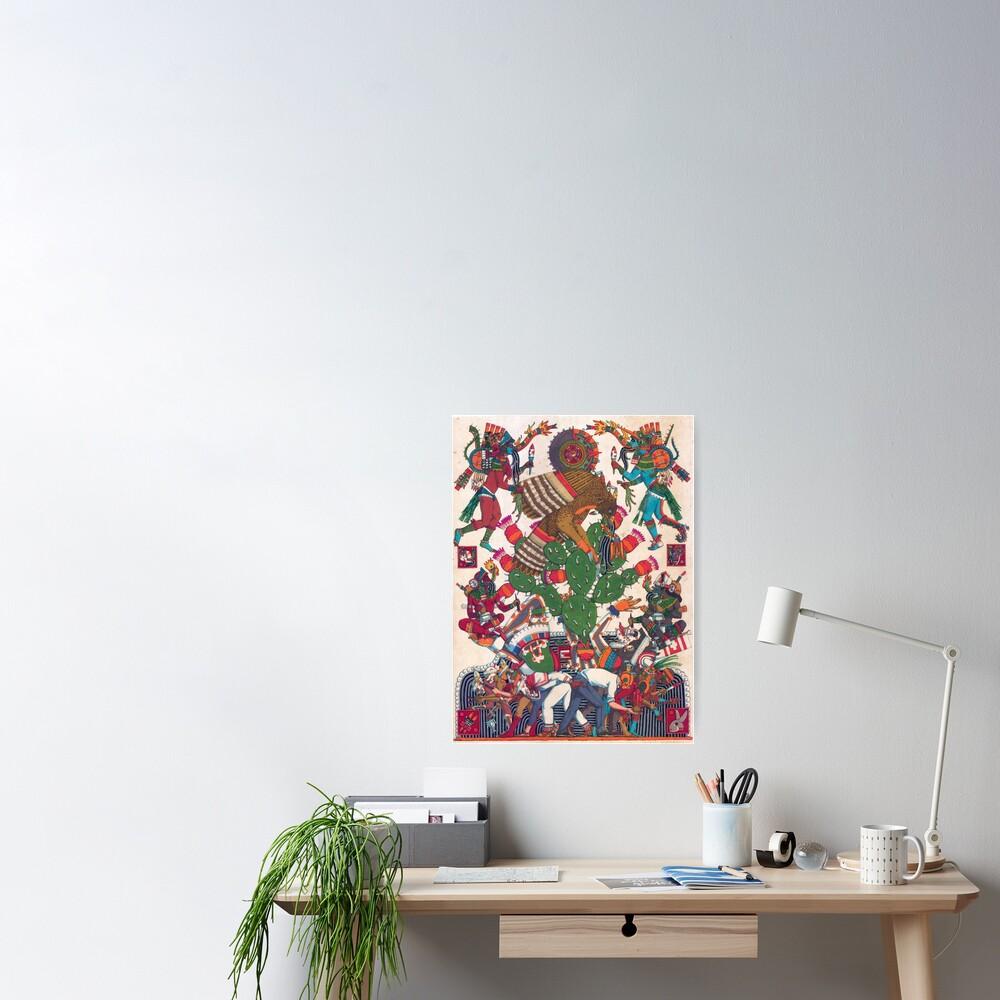 Teocalli Mexicana Poster