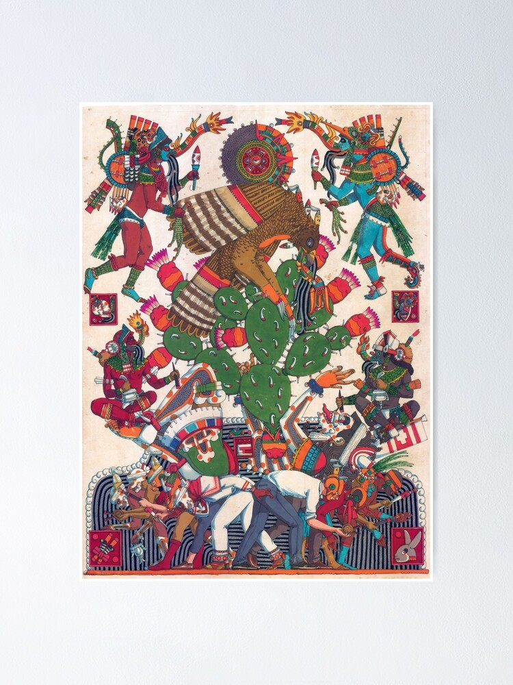 Alternate view of Teocalli Mexicana Poster