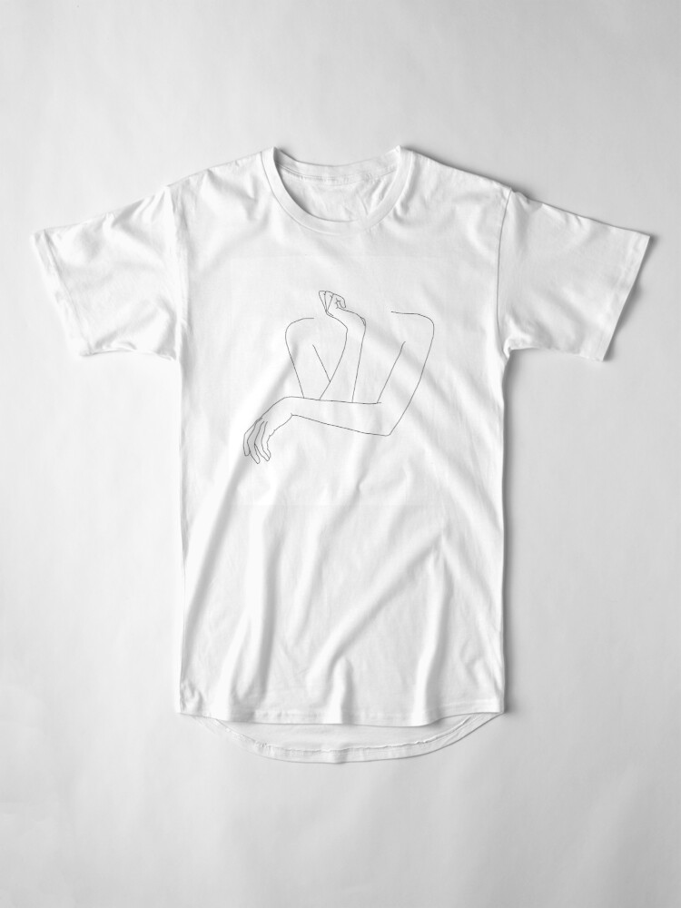 Alternate view of Folded arms line drawing - Anna Long T-Shirt
