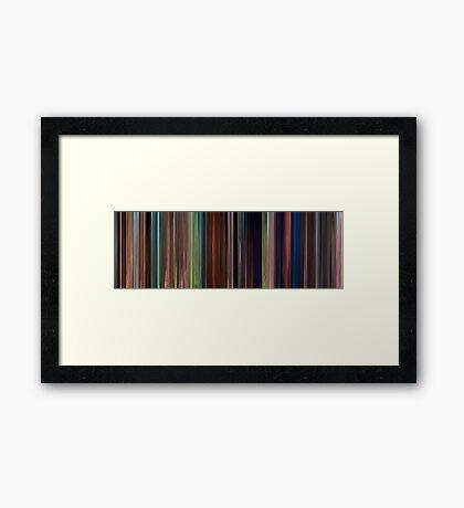 Moviebarcode: Tangled (2010) Framed Print