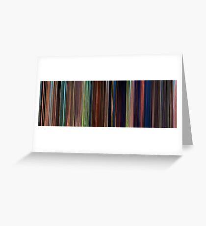 Moviebarcode: Tangled (2010) Greeting Card