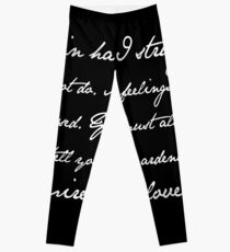 Mr Darcy Proposal Quote - Pride and Prejudice by Jane Austen Leggings