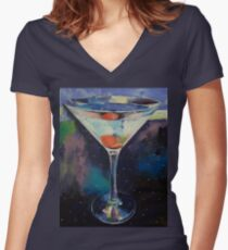 Bombay Sapphire Martini Women's Fitted V-Neck T-Shirt