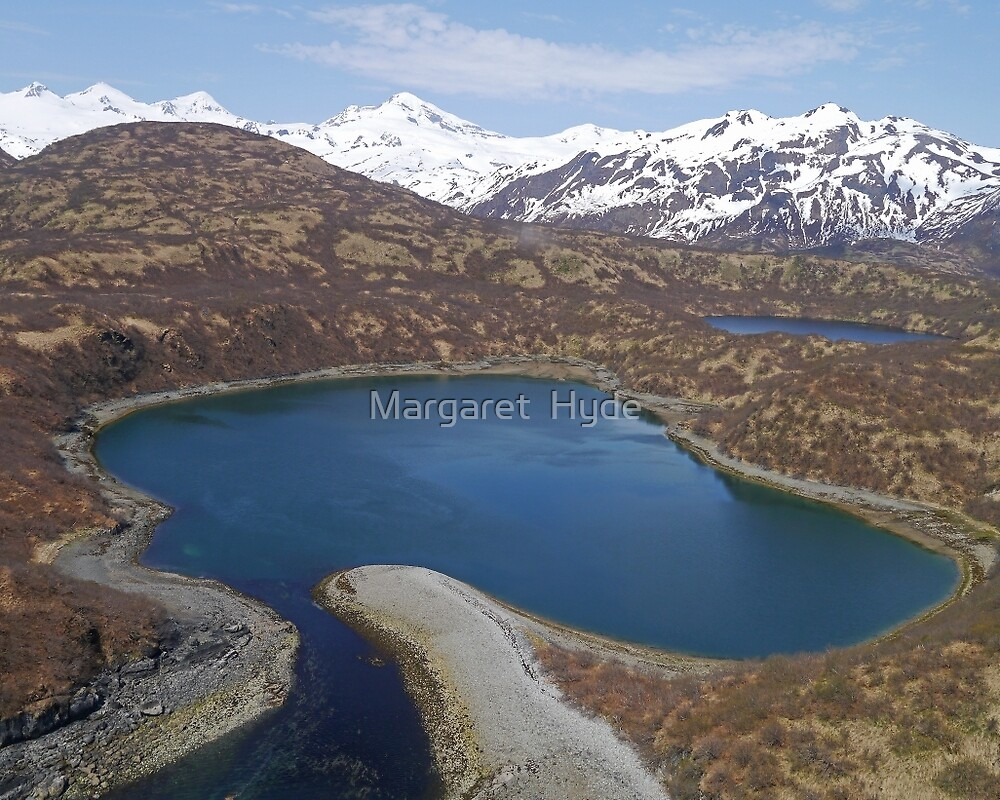 Aerial of Inlet, Kukak Bay, Katmai, Alaska, USA by Margaret  Hyde
