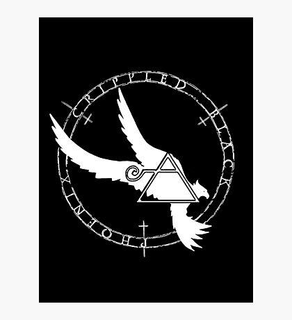 Crippled Black Phoenix 2015 A.D. (White V.2) Photographic Print