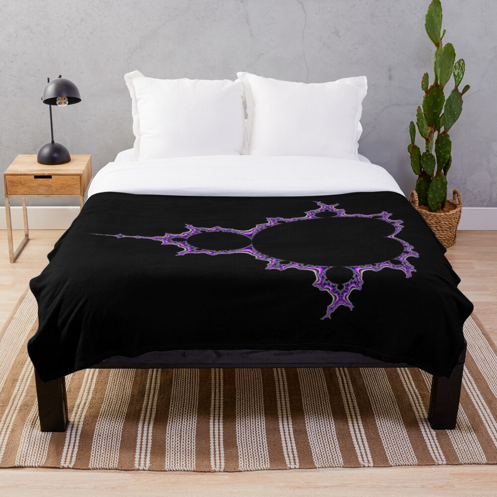 Mandelbrot 002 Throw Blanket