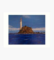 """Fastnet Rock Light""  (County Cork, Ireland) Art Print"