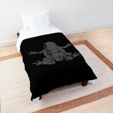 Frog Vintage Design for Frog Lover Comforter
