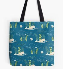 Very Hungry Whale Tote Bag