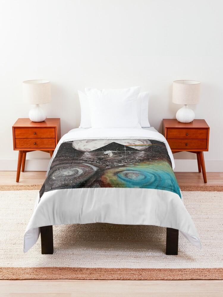 Alternate view of Pink Floyd fan art Comforter
