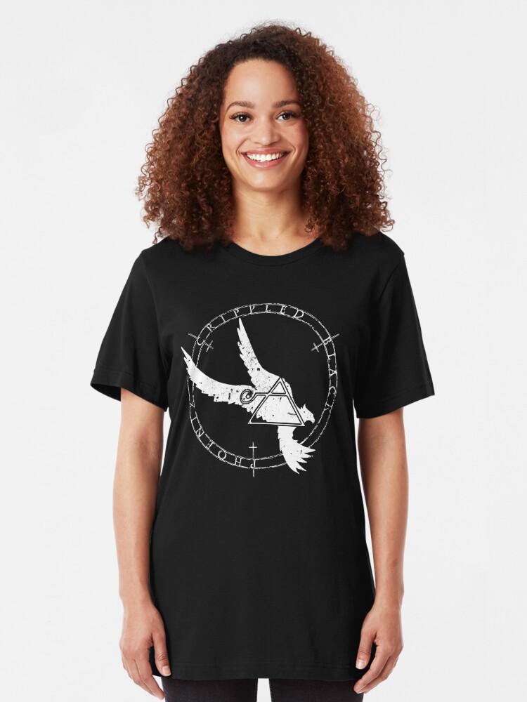Alternate view of Crippled Black Phoenix 2015 A.D. (White V.1) Slim Fit T-Shirt