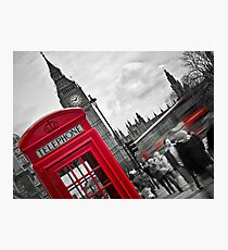 Telephone Booth in London Photographic Print