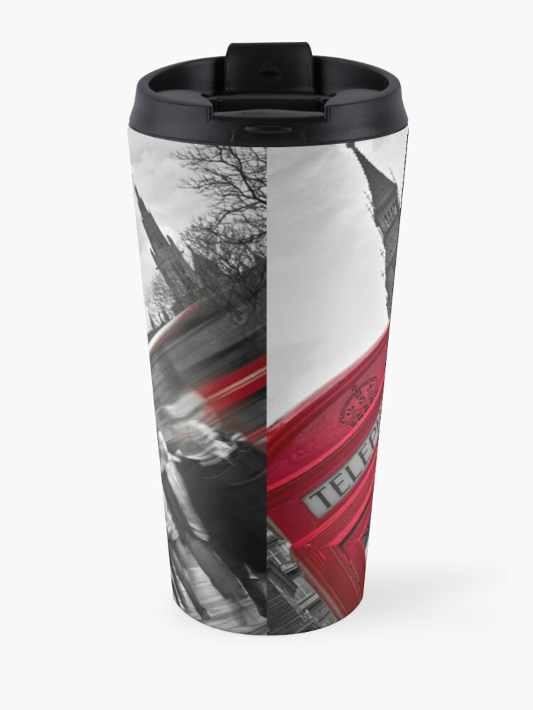 Alternate view of Telephone Booth in London Travel Mug
