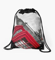 Telephone Booth in London Drawstring Bag