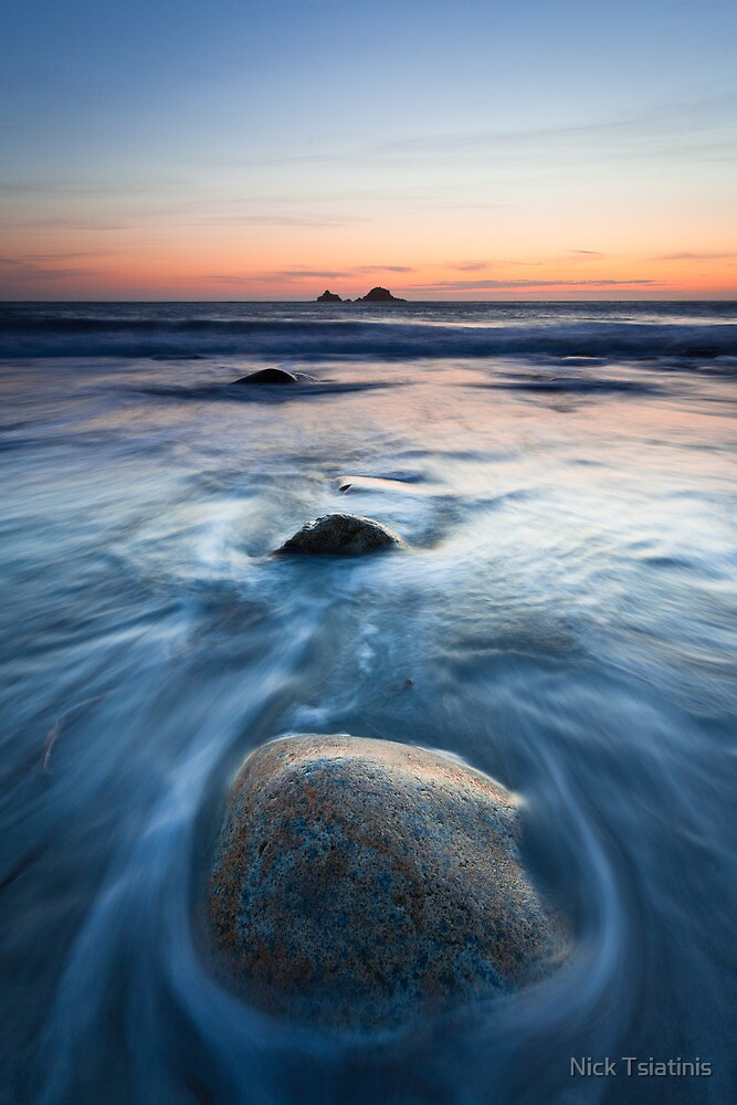 Porth Nanven Sunset by Nick Tsiatinis