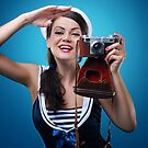 """""""Pose just like this"""" Pin-up Girl by Laura Balc"""