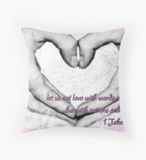 Let's not love with words Throw Pillow
