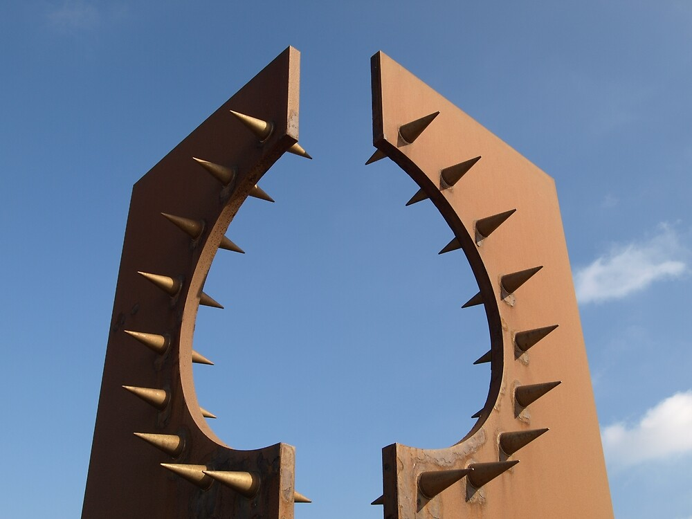Rusty spikes by Tony Worrall