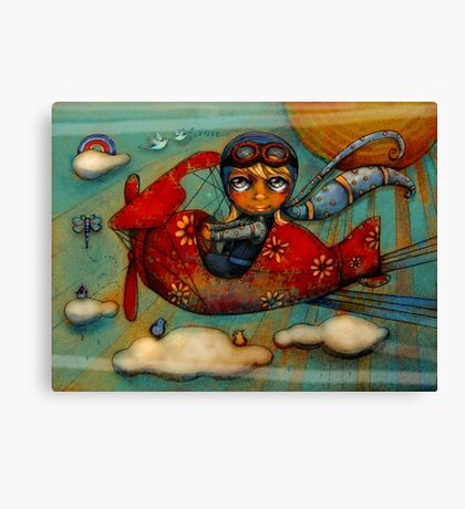 Little Red Plane Canvas Print