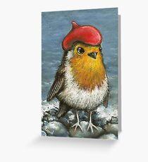 Master robin at the seashore Greeting Card