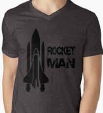 Rocket Man Mens V-Neck T-Shirt