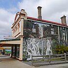 Forth Falls mural, Sheffield, Tasmania, Australia by Margaret  Hyde