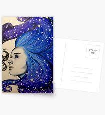 Postales diosa de las estrellas