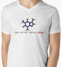 Coffee - Get Install Coffee Mens V-Neck T-Shirt
