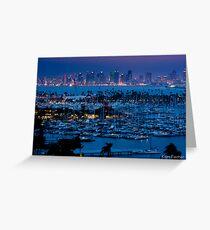 San Diego Skyline w/ Marina Greeting Card