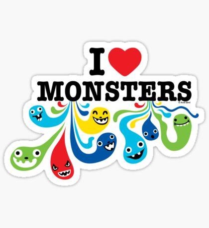 I Heart Monsters Sticker