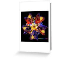 Tribal rainbow flower glow Greeting Card