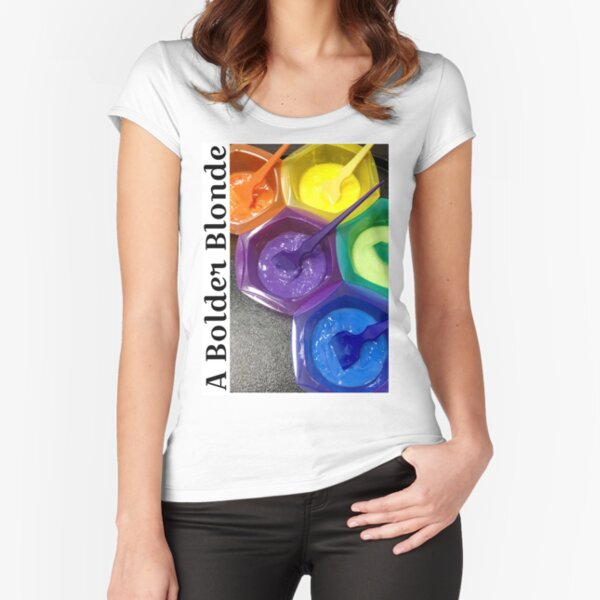 Rainbow Bowls 1 Fitted Scoop T-Shirt